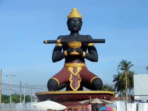 Ta Dumbong statue, Battambang, Cambodia.
