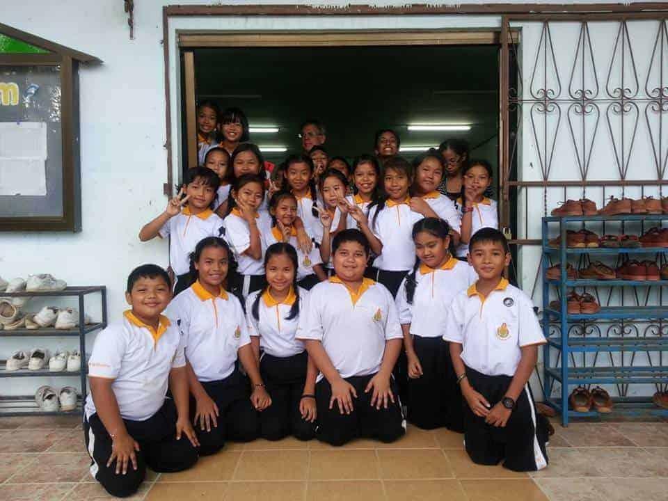 Kids at school - Samui TEFL Thailand