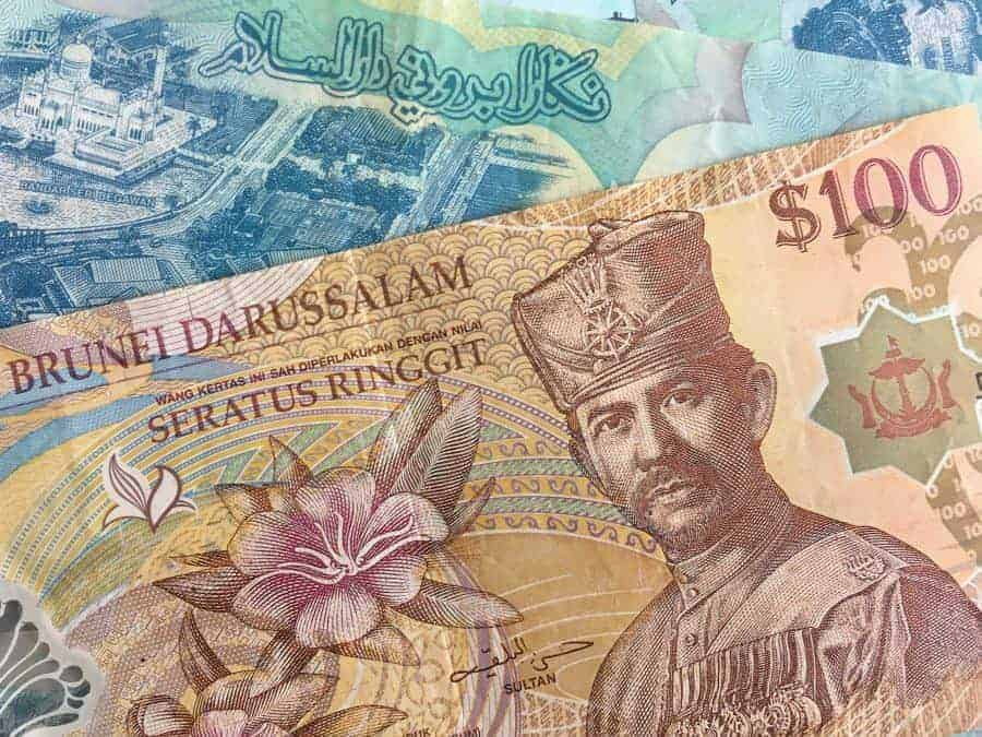 The Brunei Dollar - The legal currency of Brunei.