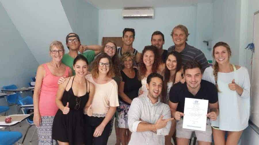 Qualified students Samui TEFL Thailand