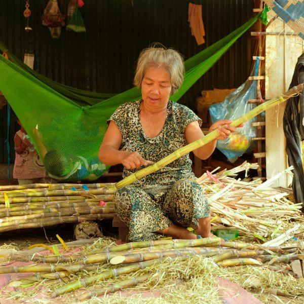 Siem Reap Village - Carving Bamboo