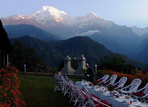 Dining Table set at Namche Bazaar, Everest Base Camp Trek