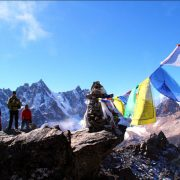 Flags in the himalayas, Everest Base Camp Trek