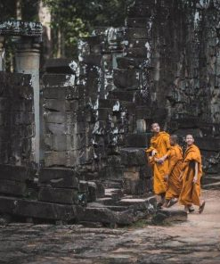 Monks at Angkor Complex Cambodia