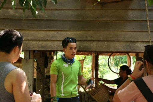 The Guide on a Cycling Tour Cambodia Butterfly Tours