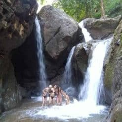 At the Waterfall! Trekking in Pai, Northern Thailand.