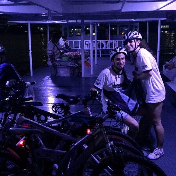 Bangkok Cycling Tour - Night Ride - Ferry ride