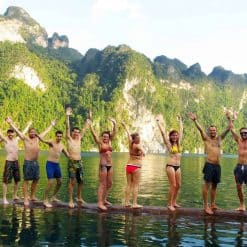 Travellers at Khao Sok National Park, Thailand