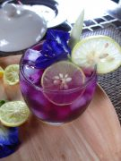 tasty iced butterflypea flower tea –  Thai Cookery School