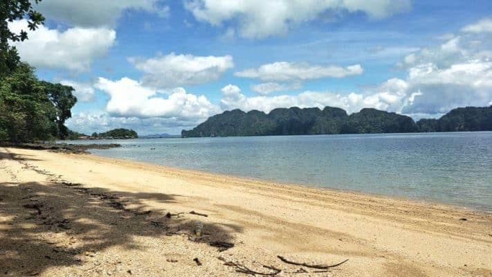 The deserted beaches of Koh Lanta Noi.