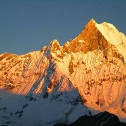 Mountain and moon, Nepal
