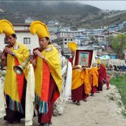 Procession Namche to Tyangboche, Everest Base Camp Trek