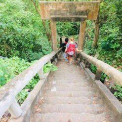 Walking to the bat cave Battambang
