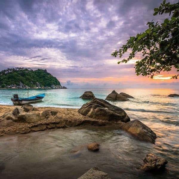 beautiful sky Had Thien Beach Koh Phangan