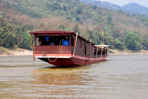 A boat in the Mekong River