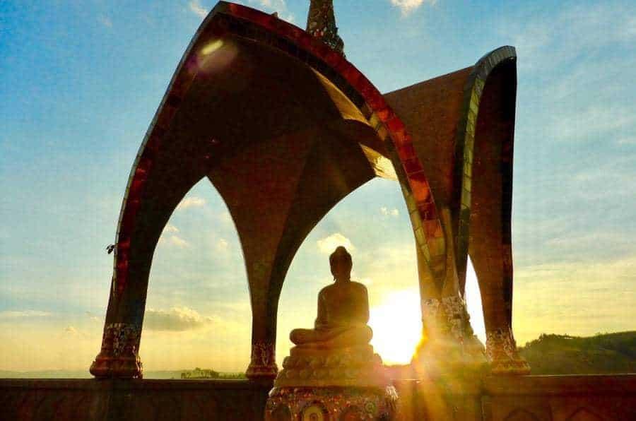 Wat Phra Sorn Kaew's Open Air Stupas
