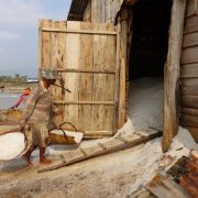 Salt Farmers in Kampot, Cambodia