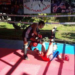 Muay Thai sparring, Pai, Thailand