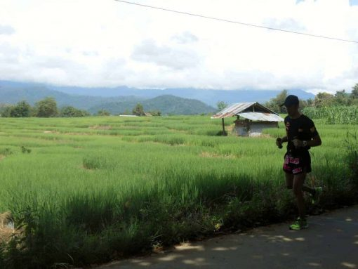 Morning run in Pai, Thailand