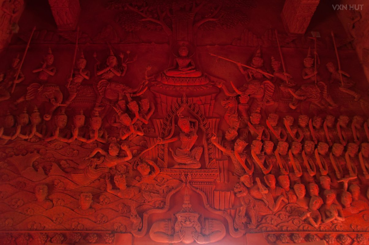 One of Racha Thammaram Temple's Interior Friezes