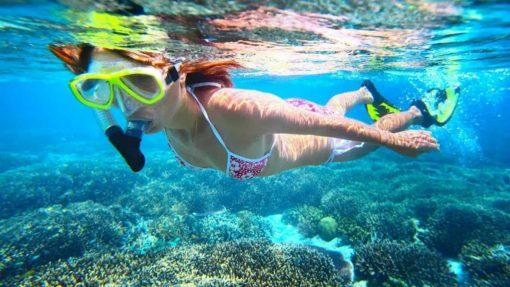 Snorkelling at Cham Island, Vietnam.