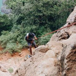 Rock climbing in Ton Sai, Krabi, Thailand.