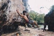 Rock climbing instructor, Krabi, Thailand.