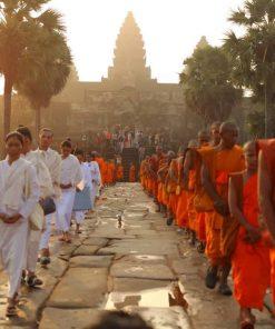 Monks at Angkor Wat, Cambodia