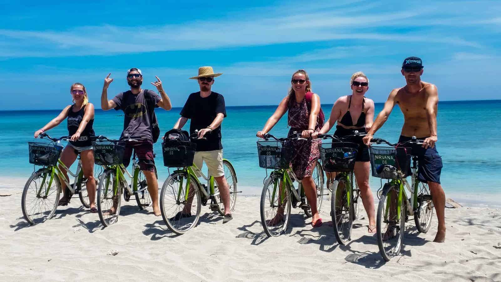 Cycling on Gili Trawangan, Indonesia