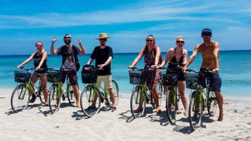Cycling on Gili Trawangan, Indonesia