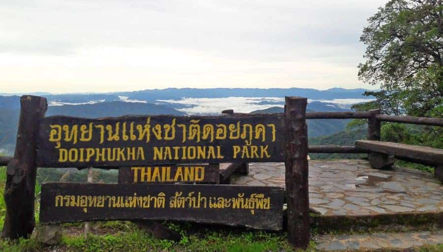 The gateway to DoiPhukKha National Park, Nan Province.