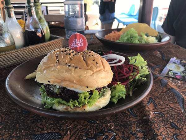 The beetroot burger from Big Buda in Ubud.