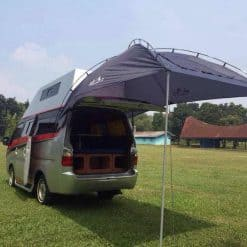 Campervan with awning, Indonesia.