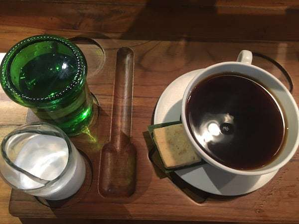 Coffee and a butter cookie at Seniman Coffee Studio in Ubud.