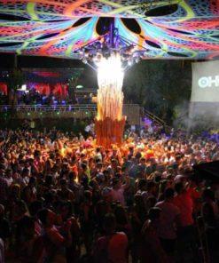 Big Crowd at the Half-Moon Party Koh Phangan