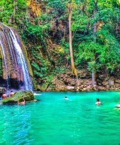 Waterfall, Kanchanaburi, Thailand