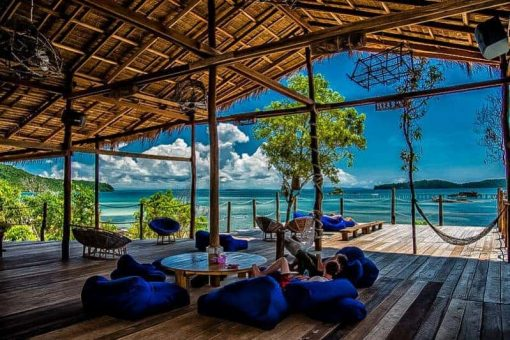 Relaxing in Koh Rong, Cambodia