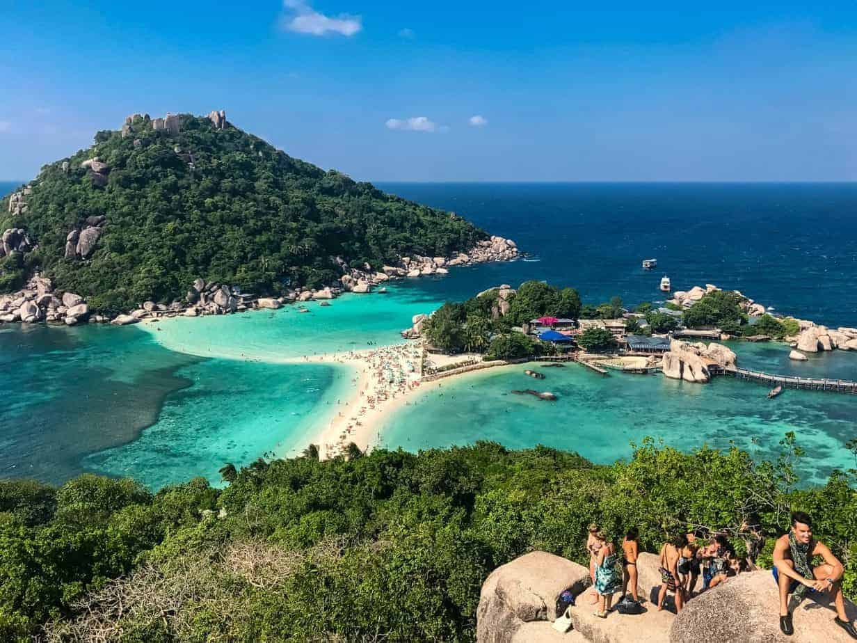 Koh Nang Yuan Island as seen from Koh Tao.