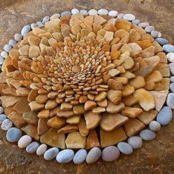 Lotus made out of stones