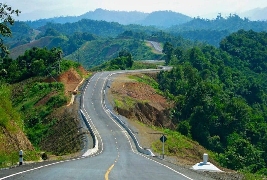 The open roads of Nan Province, Northern Thailand.