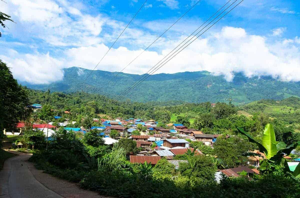 Mountain Village, Nan, North Thailand