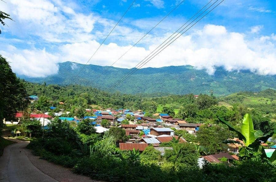 A mountain village of Nan Province.