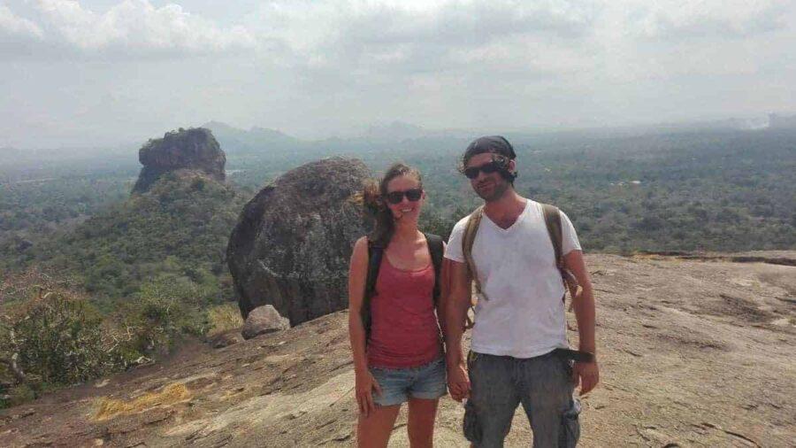 Nikki and Dave in Sigiriya, Sri Lanka in 2017.