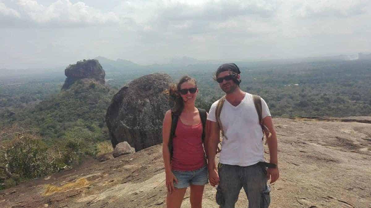 Nikki and Dave in Sri Lanka.