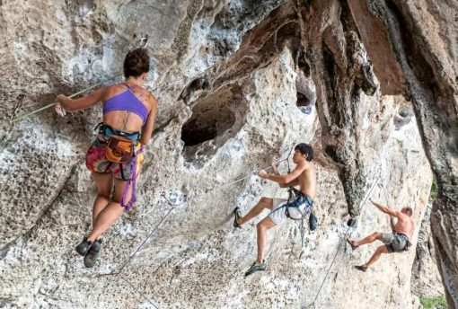 Rock climbing in Railay, Thailand