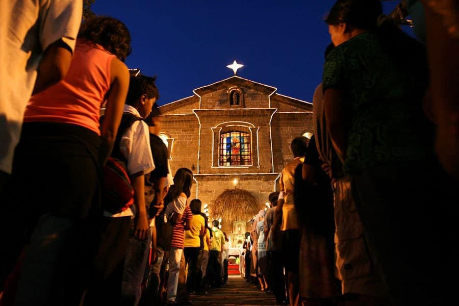 Simbang Gabi or Misa de Gallo - Christmas Mass in the Philippines.