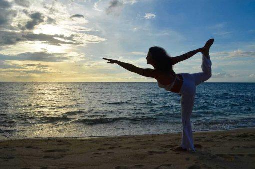 Yoga on the beach, Koh Phangan