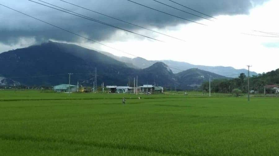 The countryside around Nha Trang.