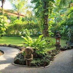 Gardens at Stoked Surf School, Bali.