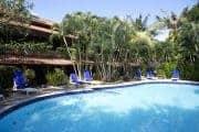 Swimming pool at Stoked Surf School, Bali.